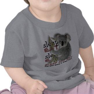 Cute Koala Eat And Sleep Shirts