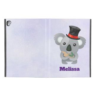 """Cute Koala in a Black Top Hat Custom iPad Pro 9.7"""" Case"""