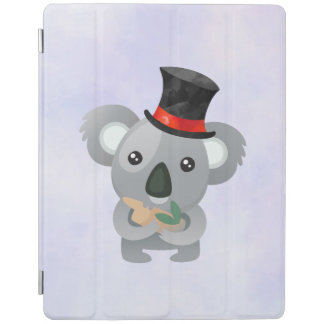 Cute Koala in a Black Top Hat iPad Cover