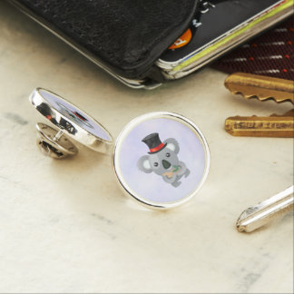 Cute Koala in a Black Top Hat Lapel Pin