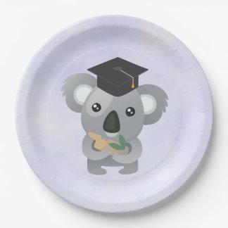 Cute Koala in a Graduation Cap Paper Plate