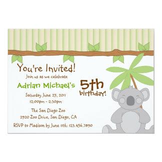 Cute Koala Party Invite