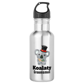 Cute Koala Pun Koalaty Groomsman 532 Ml Water Bottle
