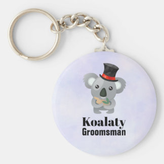 Cute Koala Pun Koalaty Groomsman Key Ring