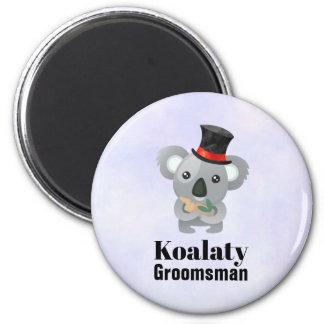 Cute Koala Pun Koalaty Groomsman Magnet