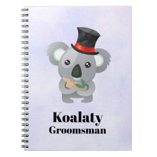 Cute Koala Pun Koalaty Groomsman Notebook
