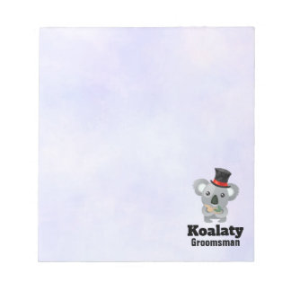 Cute Koala Pun Koalaty Groomsman Notepad