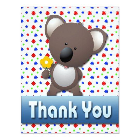 CUTE KOALA THANK YOU NOTE CARD