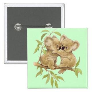 Cute Koalas 15 Cm Square Badge
