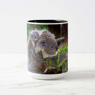 Cute Koalas Two-Tone Coffee Mug