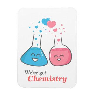 Cute lab flasks in love, we've got chemistry rectangular photo magnet