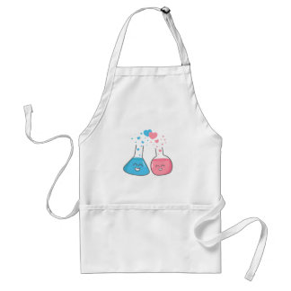 Cute lab flasks in love, we've got chemistry standard apron
