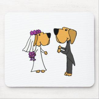 Cute Labrador Retriever Bride and Groom Mouse Pad
