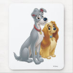 Cute Lady and the Tramp Disney Mousepad