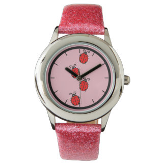 Cute Lady Bug Kids Watch
