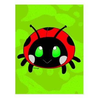 Cute lady bug postcard