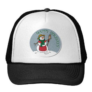Cute Lady Snowman Round Design Mesh Hat