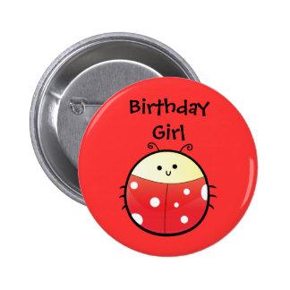 Cute Ladybird 6 Cm Round Badge