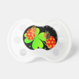 Cute Ladybird Shamrock Pacifiers