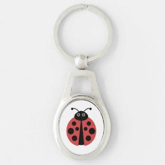 Cute Ladybug Animal Print Key Ring