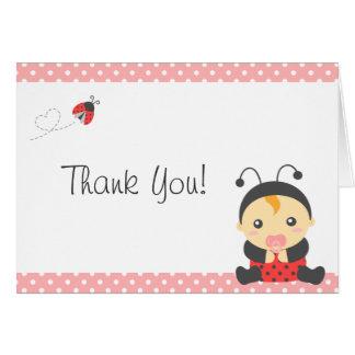 Cute Ladybug Baby Girl, Thank You Greeting Cards