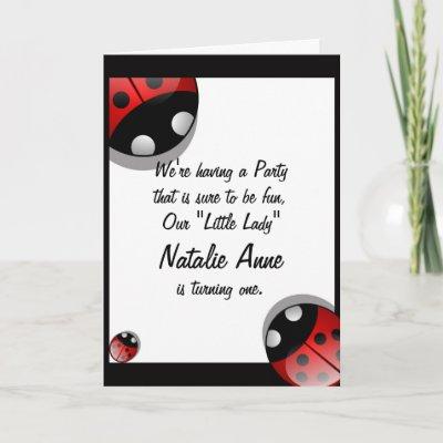Cute Ladybug Birthday Invitation Template Card by tanya