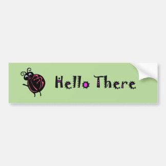 Cute Ladybug Cartoon Car Truck Bumper Stickers