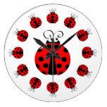 Cute Ladybug Clock