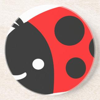 Cute ladybug coaster