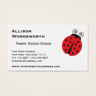 Cute Ladybug Drawing Business Card