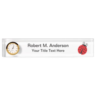 Cute Ladybug Drawing Desk Name Plates