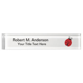 Cute Ladybug Drawing Name Plate