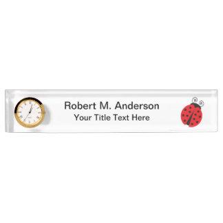 Cute Ladybug Drawing Nameplate