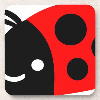 Cute ladybug drink coaster