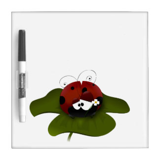 Cute Ladybug Dry Erase Board