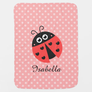 Cute Ladybug for Sweet Baby Girls Baby Blanket
