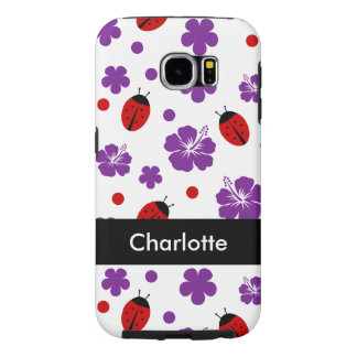 Cute Ladybug Monogram Samsung Galaxy S6 Cases