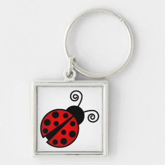 Cute Ladybug - Red and Black Key Ring