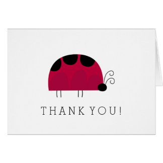 Cute Ladybug Thank you Note Card
