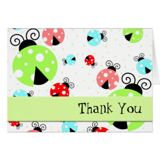 Cute Ladybugs Thank You Card