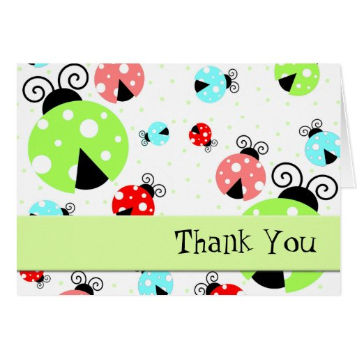 Cute Ladybugs Thank You Card