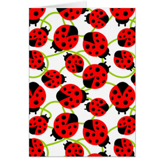 Cute Ladybugs Thank You Note Card