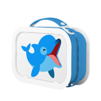 Cute Laughing Cartoon Dolphin Lunchboxes