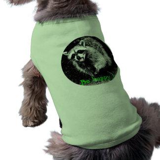 Cute laughing  raccoon on dog sweater shirt