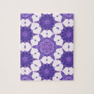 Cute Lavender Heart Abstract Jigsaw Puzzles