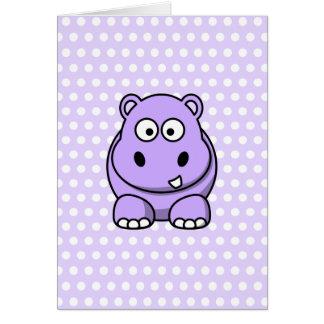 Cute Lavender Hippo Card