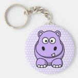 Cute Lavender Hippo Keychain