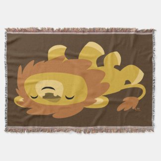 Cute Lazy Cartoon Lion