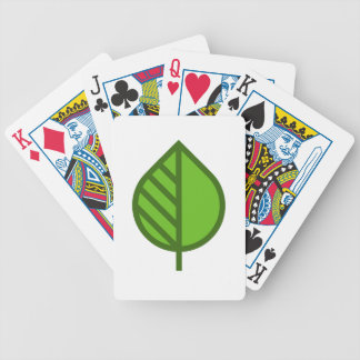 Cute Leaf Bicycle Playing Cards