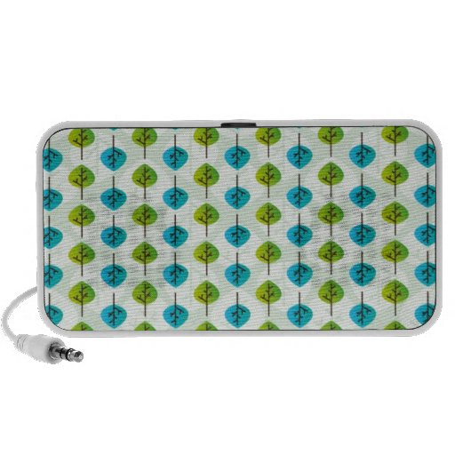 Cute leaf pattern doodle speaker